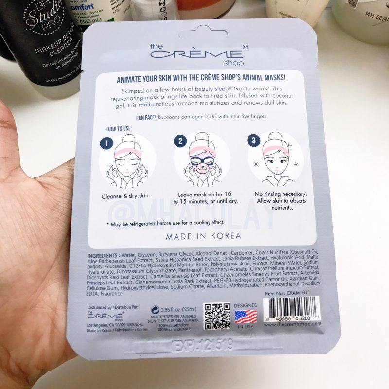 The Creme Shop: Wake Up Skin Sheet Mask Review